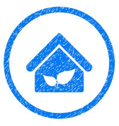 Greenhouse rounded grainy icon vector