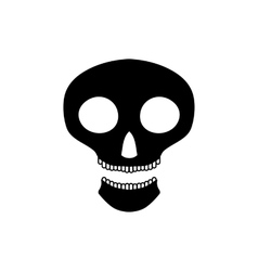 Halloween skull icon simple style vector image vector image