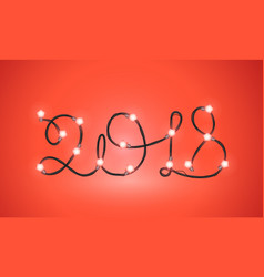 Happy new 2018 new year greeting card vector