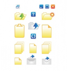 icons for common computer func vector image vector image
