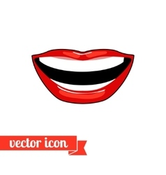 Lips icon 8 vector image