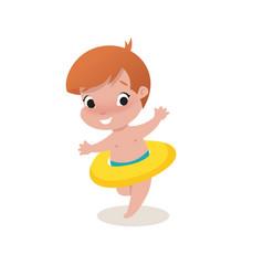 little child boy vector image