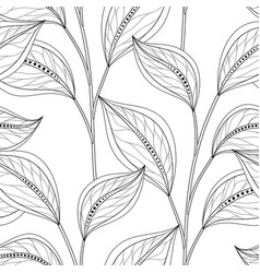 Monochrome seamless floral pattern vector