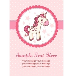 Party card with unicorn vector