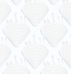Quilling white paper striped strawberries vector