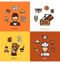Restaurant Design Concept vector image vector image