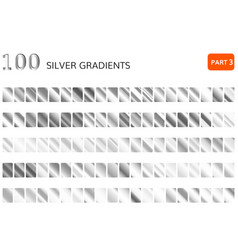 silver gradient set metallic silver vector image