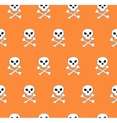Skull and bones seamless pattern vector image