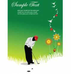 summer golf vector image vector image