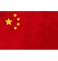 True proportions china flag with texture vector