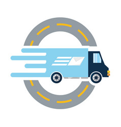 Trunk with package service route to delivery vector