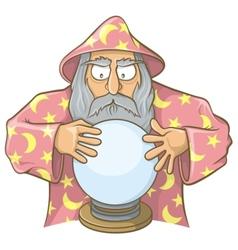 wizard ball pink vector image
