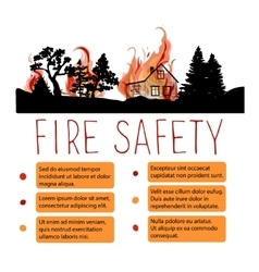 Template of safety from wildfire placard vector