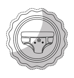 Baby diaper icon vector
