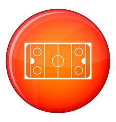 Ice hockey rink icon flat style vector