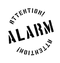 Alarm rubber stamp vector