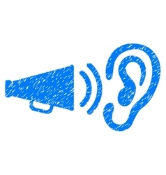 Listen sound grainy texture icon vector