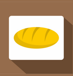 Loaf bread icon flat style vector