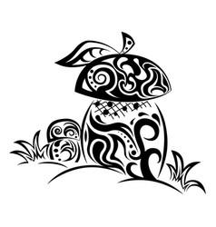 zentangle stylized mushrooms vector image