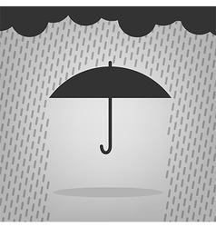 Umbrella and rain drops vector