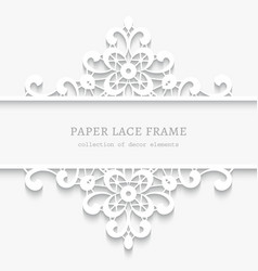 Paper lace divider frame vector image