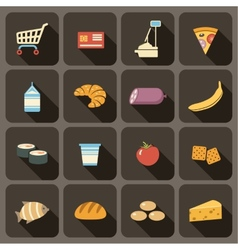 Flat icons set for Web vector image