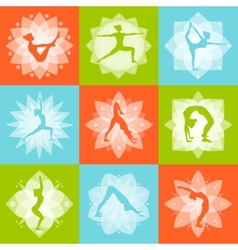Yoga design concept vector