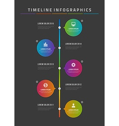 Timeline infographic and icons design template for vector