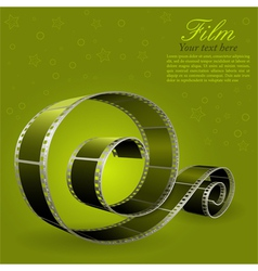 photographic film element vector image