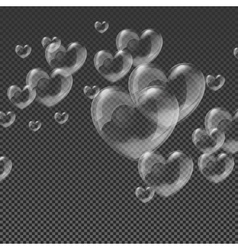 Heart-shaped transparent clean realistic soap vector