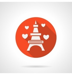 Eiffel tower romantic trip flat icon vector