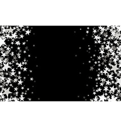 Black starry background vector