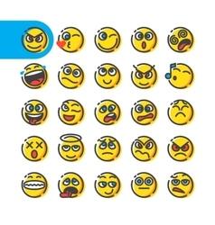 Set of emoji bubble emoticons vector image