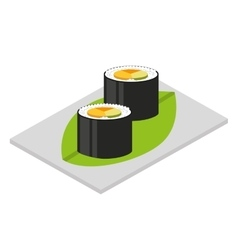 Japanese food isolated icon design vector