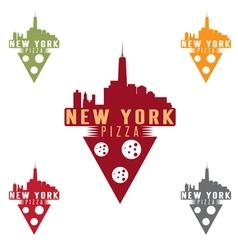 New york pizza concept design template vector