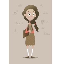 a clever pry schoolgirl vector image vector image