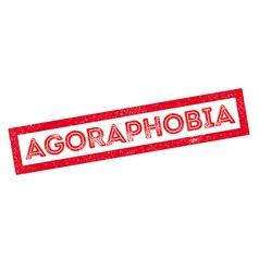 Agoraphobia rubber stamp vector
