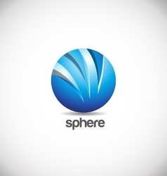 Blue sphere logo icon design vector