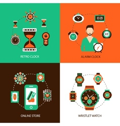 Clock Design Concept Set vector image