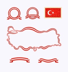 Colors of Turkey vector image vector image