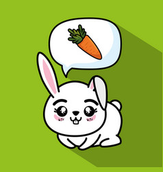 cute and lovely bunny animal cartoon vector image