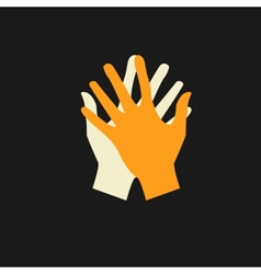flat icon hands color abstraction eps vector image vector image