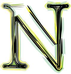 font letter N vector image vector image