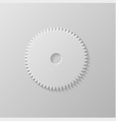 gear icon on a grey background vector image vector image