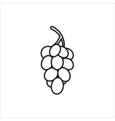 grapes simple icon on white background vector image vector image