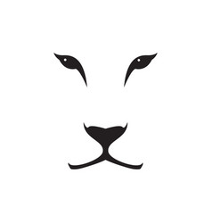 Image of a lioness head on white background vector