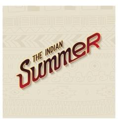 Indian summer lettering design vector