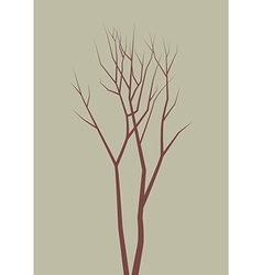 Isolated dead tree vector image