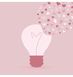 Love bulb vector image