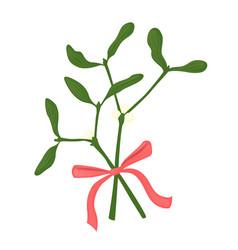 mistletoe branches vector image